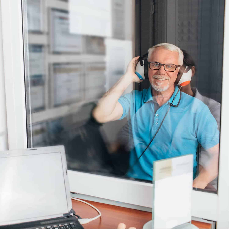 Hearing Evaluation of Senior Man